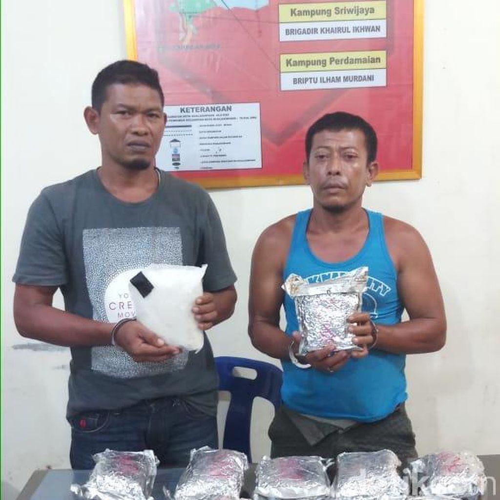 2 Petani Ditangkap di Aceh, 17 Kg Sabu Disita