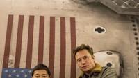 Miliarder Jepang Ajak 8 Orang Tur ke Bulan Pakai Roket Elon Musk, Gratis!