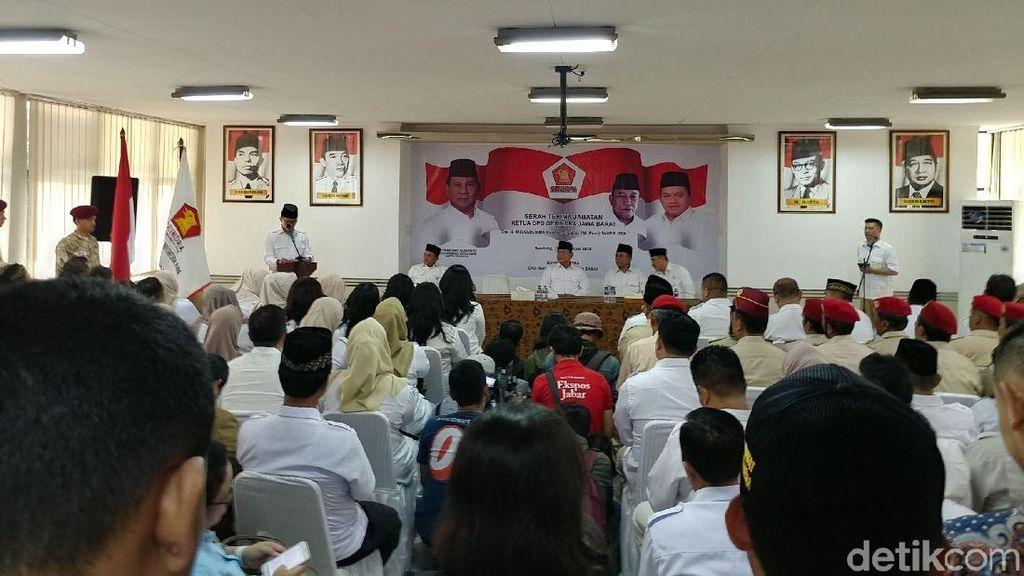 Bahas Urusan Dapur di Gerindra Jabar, Prabowo Minta Wartawan ke Luar