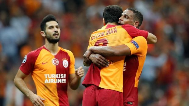 Galatasaray meraih kemenangan meyakinkan atas Lokomotiv Moskow.
