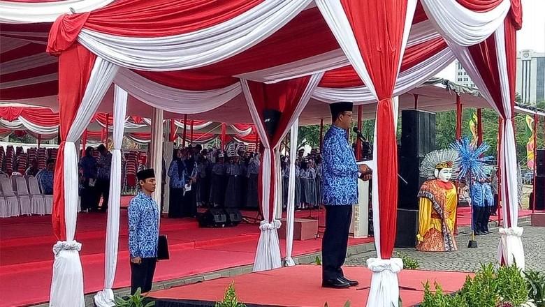 Anies Pimpin Upacara Peringatan ke-73 Hari Rapat Raksasa Ikada