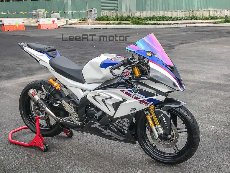 Yamaha R15 Disulap Jadi BMW HP4 Race. Foto: Dok. LeeAT Motor