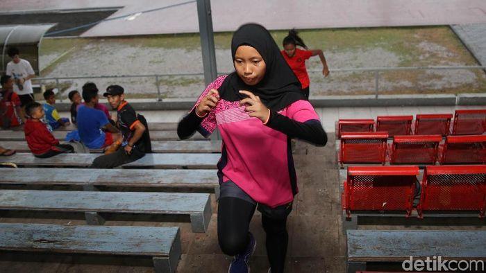 Atlet Asian Para Games Kharisma Evi (Agung Pambudhy/detikSport)
