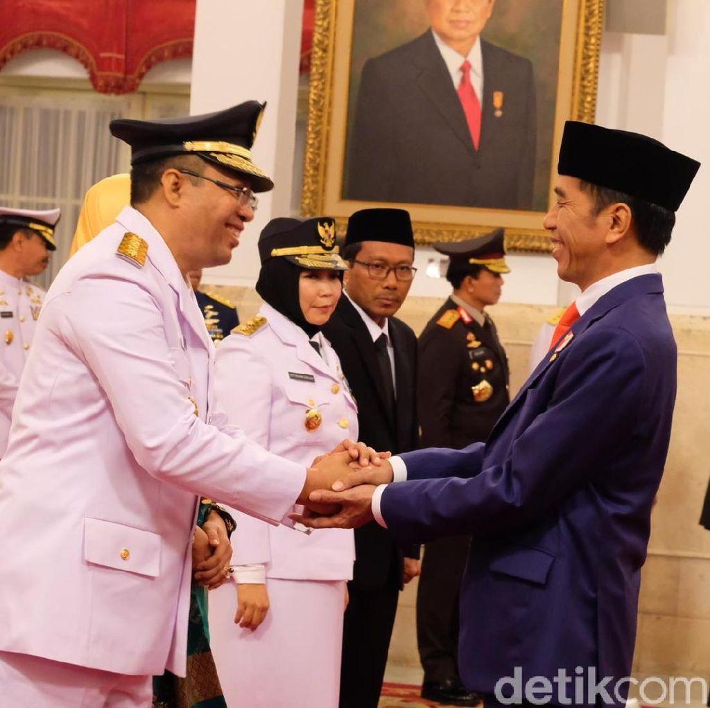 Gubernur Baru NTB Puji Jokowi, Wagub Nyeletuk Jokowi 2 Periode