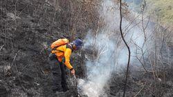Kebakaran Lahan 87 Hektare di Gunung Ciremai Padam