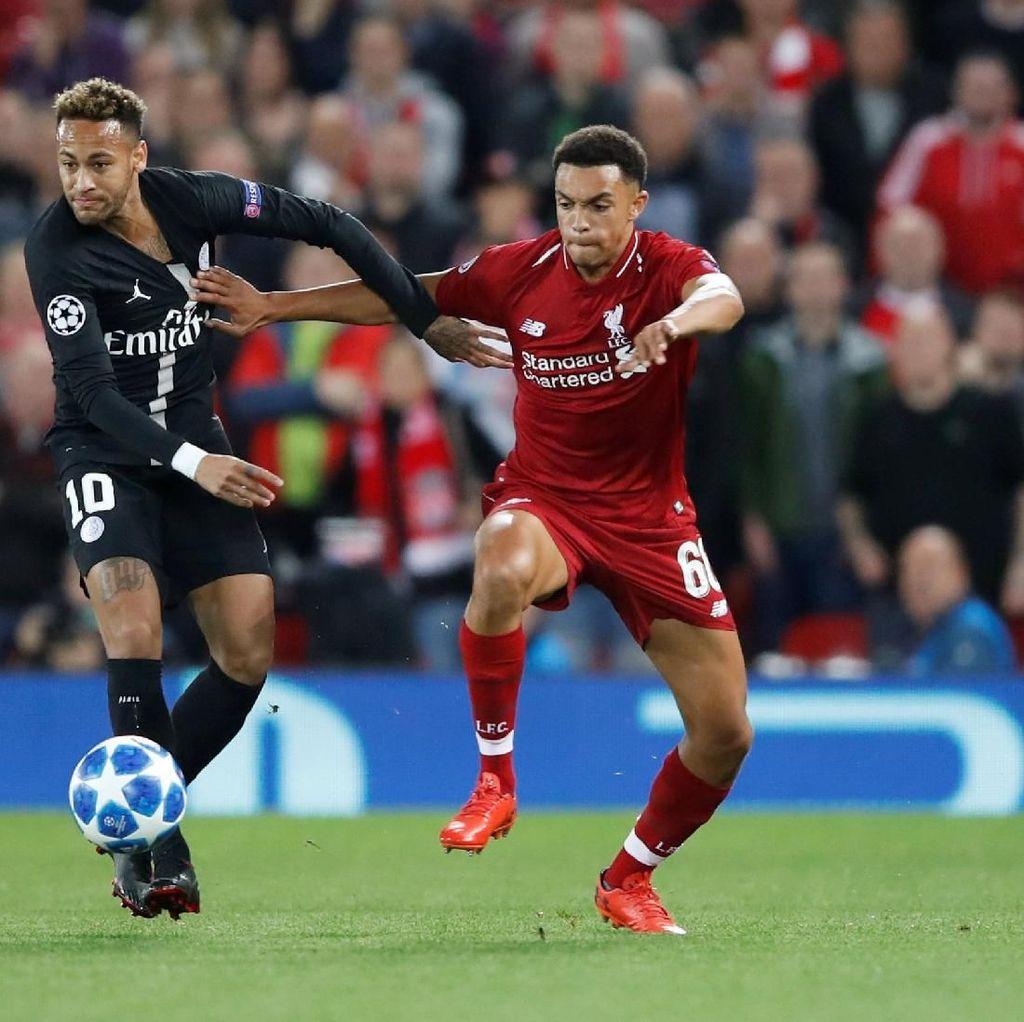 TwitterRiuh, Neymar Disebut Raib Saat PSG Dikalahkan Liverpool