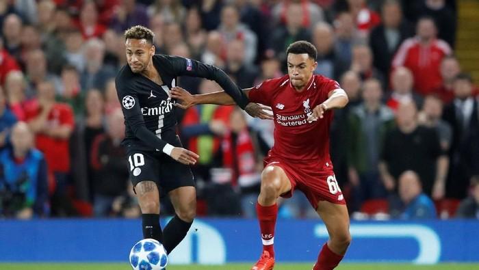 Dalam keriuhan cuitan di Twitter, Neymar disebut raib saat PSG dikalahkan Liverpool di Liga Champions (Foto: Carl Recine/Reuters)