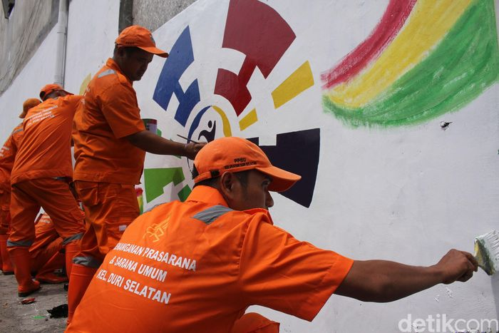 Pembuatan mural ini guna menyambut Asian Para Games 2018 yang akan berlangsung di Jakarta.
