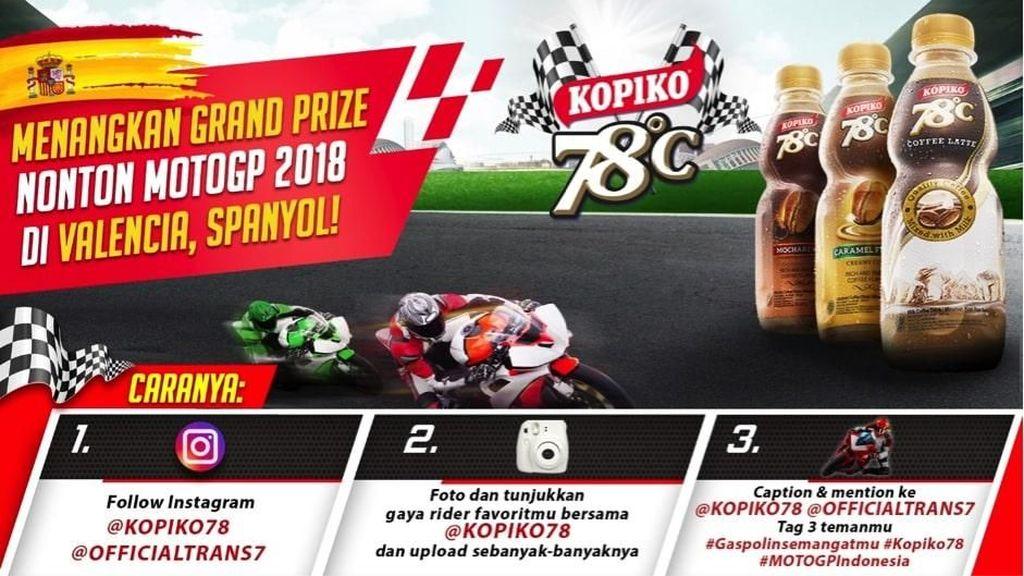 Kopiko78 Beri Kesempatan Nonton Langsung MotoGP di Spanyol