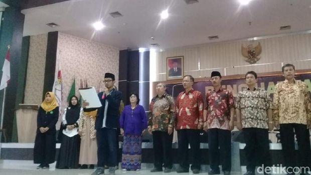Diskusi musikal antikorupsi Bung Hatta Anti-Corruption Award (BHACA) di UIN Malang, Rabu (19/9/2018)