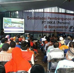 Mau Bangun Pabrik Rp 1,6 T, INKA Sosialisasi ke Warga Banyuwangi