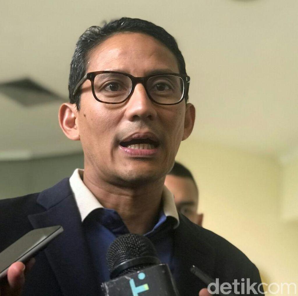 Dana Awal Kampanye Rp 2 M, Sandi: Jangan Bandingkan dengan Sebelah