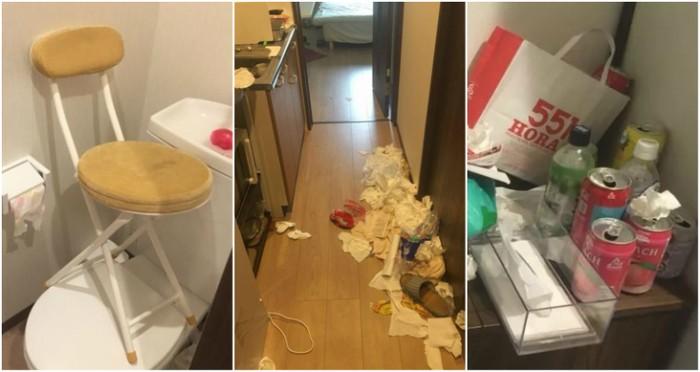 Apartemen yang rusak disewa online. Foto: istimewa