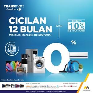 Transmart Carrefour Hadirkan Program Cicilan 0% Selama 12 Bulan