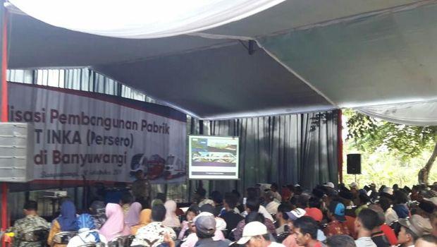 INKA sosialisasi pembangunan pabrik di Banyuwangi