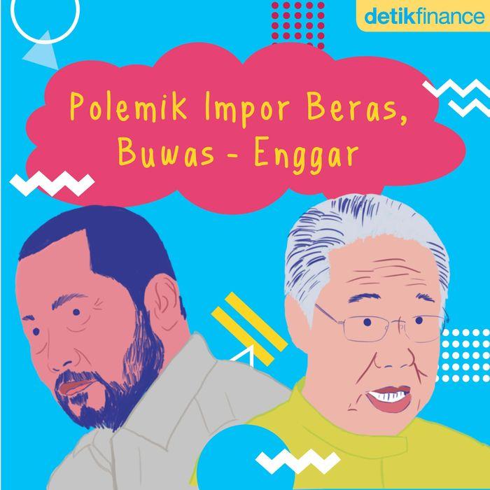 Polemik Impor Beras, Buwas-Enggar. Foto: Pool.