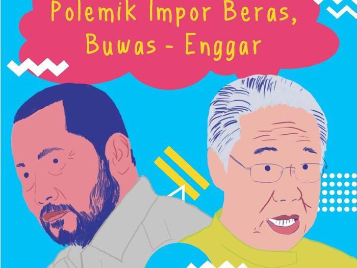 Ilustrasi Buwas dan Mendag Enggartiasto Lukita/Foto: Pool