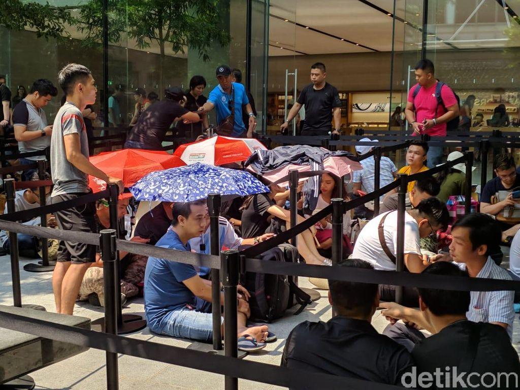 Di Singapura, rencananya iPhone XS dan Iphone XS Max akan dijual besok. (Foto: detikINET/Adi Fida Rahman)