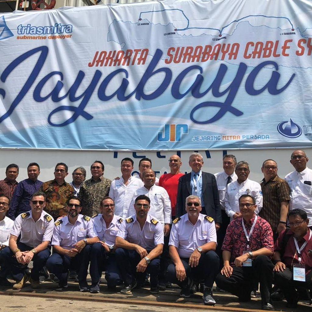 Proyek Kabel Optik Jakarta-Surabaya Jelang Rampung