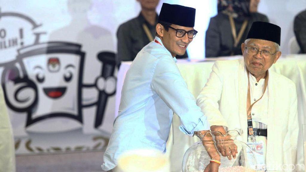 Setali Tiga Uang, Kampanye Maruf dan Sandiaga Kandas karena Dihadang