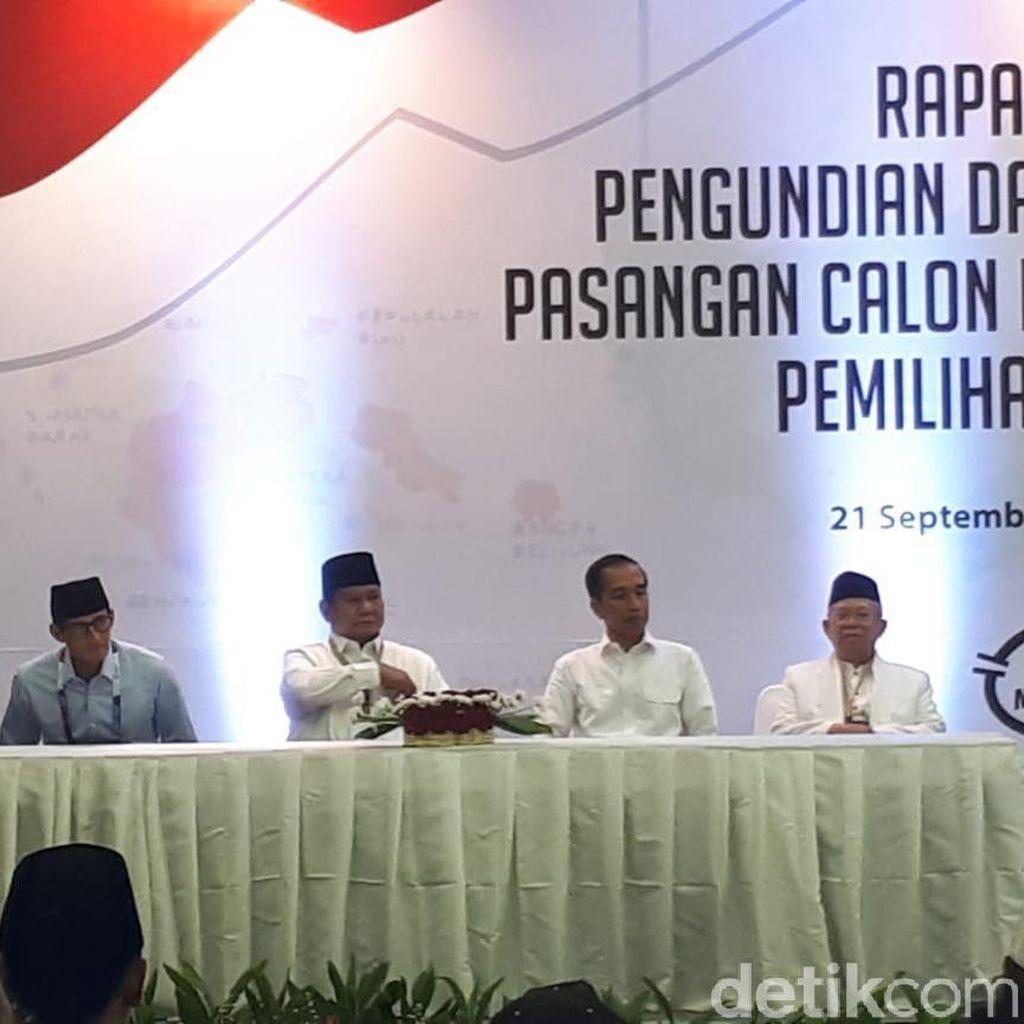 Prabowo-Sandiaga Dapat Giliran Pertama Ambil Nomor Urut