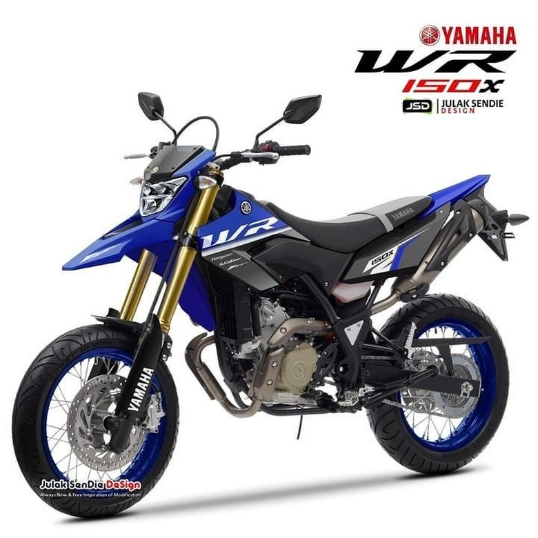 Bagaimana Jika Desain Motor Trail 150cc Terbaru Yamaha Seperti Ini