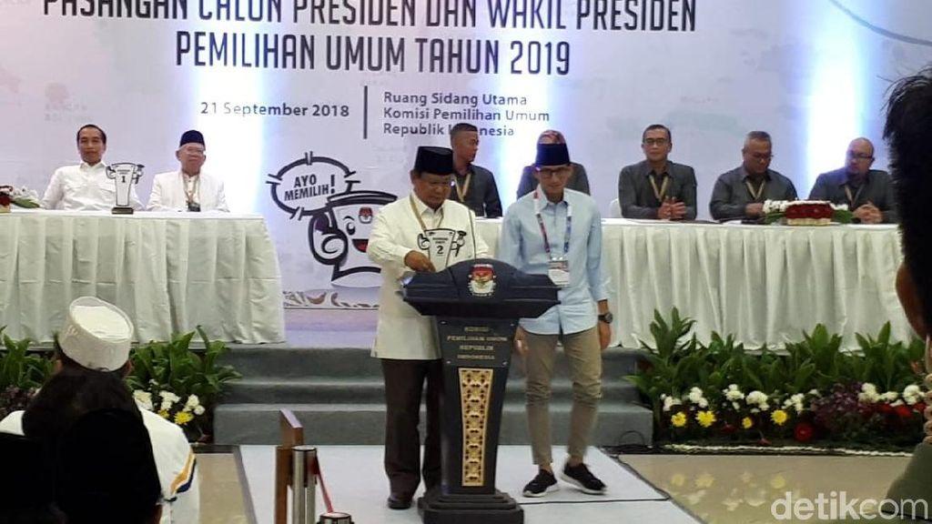 Prabowo Serukan Pemilu Damai dan Sejuk