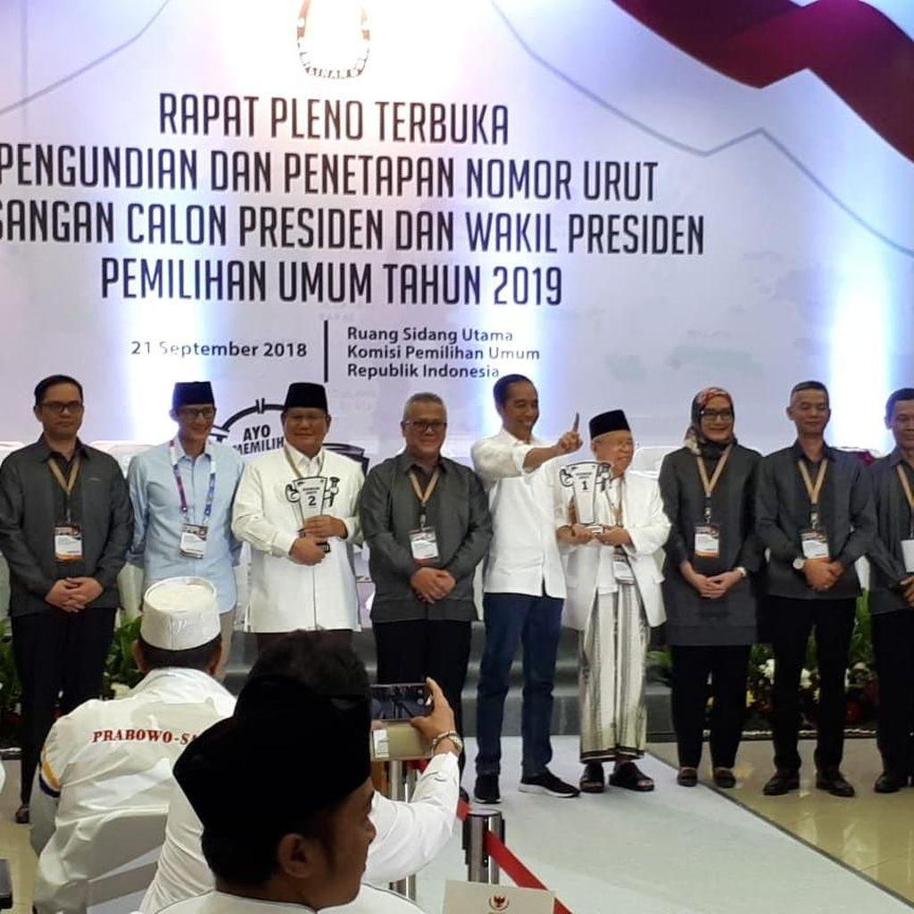 #PrabowoSandi Vs #Jokowi1xLagi Adu Nyaring Pagi Ini