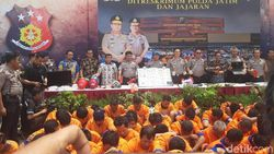 Ribuan Tersangka Diamankan Polda Jatim dalam Operasi Sikat Semeru