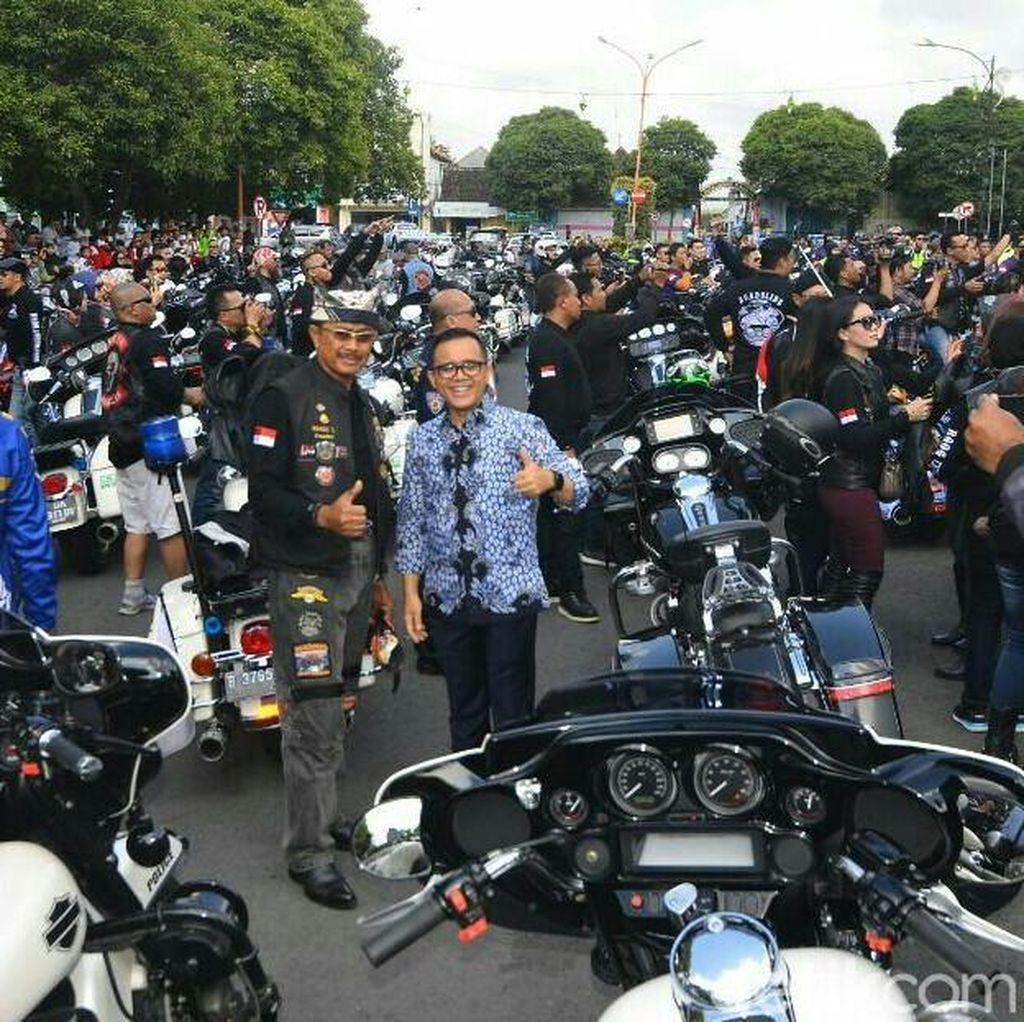Mampir Banyuwangi, Pengemudi Harley Davidson Dijamu Bupati Anas