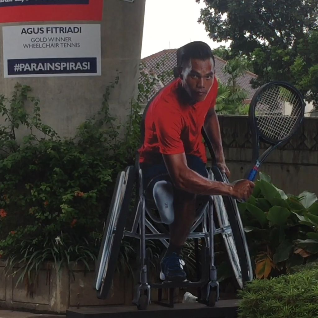 Keren! Ada Sosialisasi Asian Para Games via Trick Art 3D