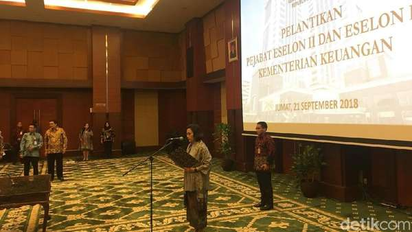 Lantik 62 Pejabat Kemenkeu, Sri Mulyani Ingatkan soal Tahun Politik