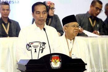 Momen Jokowi Tunjukkan Nomor Urut 1