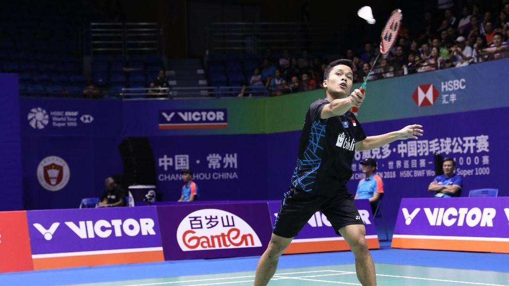 Jadwal China Terbuka 2018 Hari Ini: Anthony vs Chen Long