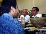 Jelang Pengundian Nomor Urut, Jokowi Makan Siang di Restoran Jawa