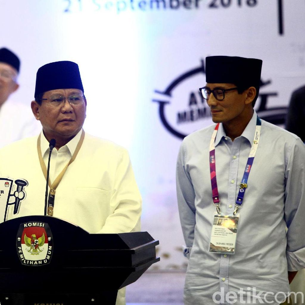 Disebut Tak Lengkap, Ini Visi-Misi Prabowo-Sandiaga
