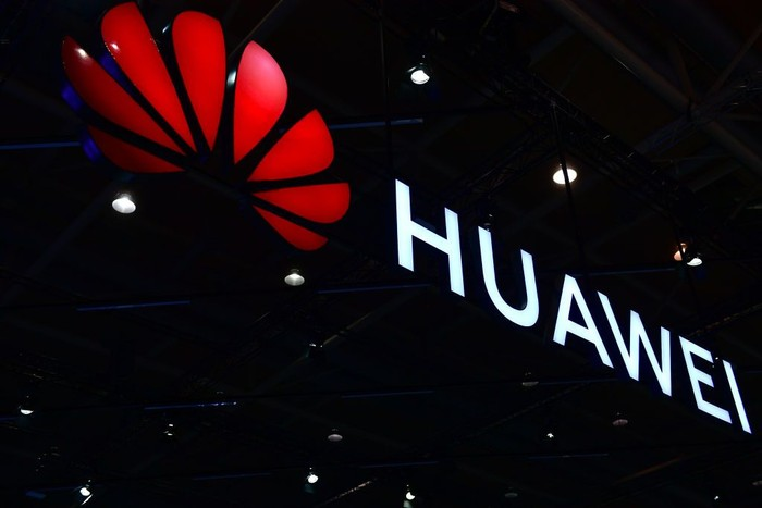 HANOVER, GERMANY - JUNE 12: The Huawei logo is displayed at the 2018 CeBIT technology trade fair on June 12, 2018 in Hanover, Germany. The 2018 CeBIT is running from June 11-15. (Photo by Alexander Koerner/Getty Images)