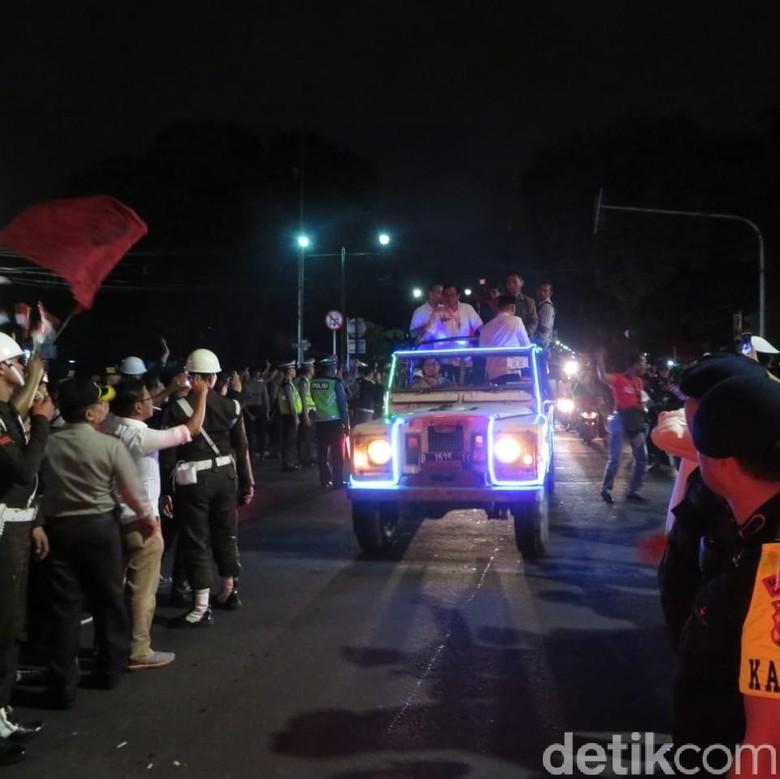 Land Rover tunggangan Jokowi-MaRuf Amin Foto: Noval Dwinuari Antony/ detikcom