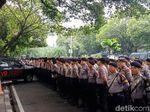 Polisi Gelar Apel Pengamanan Pengundian Nomor Urut Capres