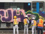 Keterlaluan! Belum Dipakai, Kereta MRT sudah Dicoret-coret