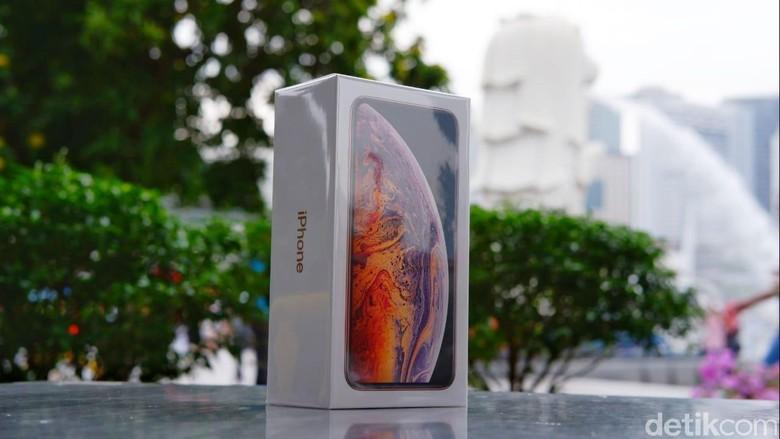 Setelah diumumkan bulan September lalu, iPhone XS Max resmi menyambangi Indonesia pada Desember ini. Foto: detikINET/Adi Fida Rahman