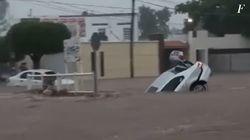Banjir Bandang Merendam Kota di Meksiko