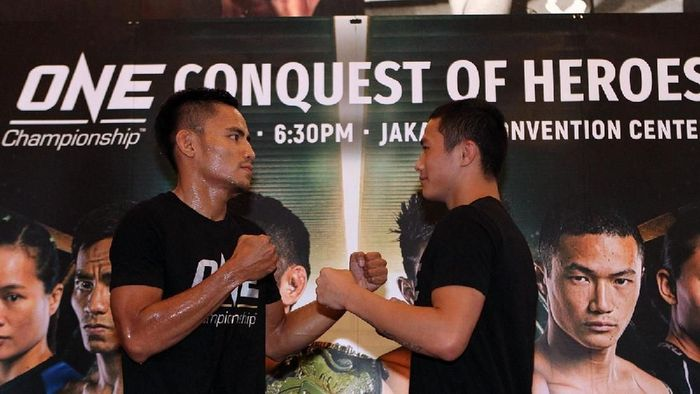 Stefer Rahardian (kiri) akan menantang petarung Filipina malam ini (dok.ONE Championship)