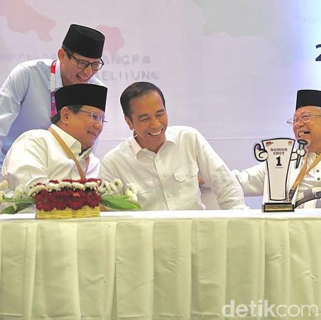 Survei Indikator: Jokowi-Maruf 57,7%, Prabowo-Sandi 32,3%