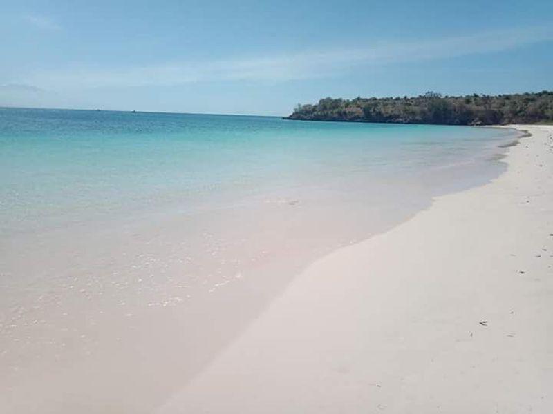 Para wisatawan domestik dan mancanegara menamakannya pantai Pink. Nama itu diambil bisa jadi karena melihat pantulan pasirnya yang berwarna pink ketika diterpa bias sinar matahari yang berpendar masuk di tengah laut (Randi Boat/istimewa)