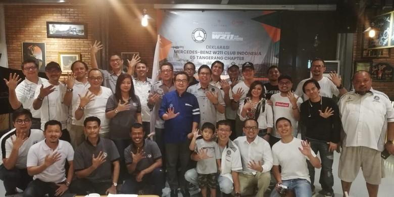 Komunitas W211 Tangerang. Foto: Rizki Pratama