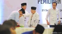 Momen Sandiaga Cium Tangan Maruf Amin di Pengambilan Nomor Urut