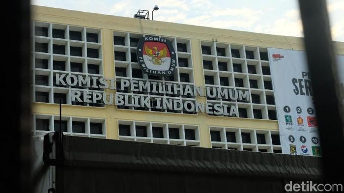 Ilustrasi gedung KPU dan Pemilu serentak 2019
