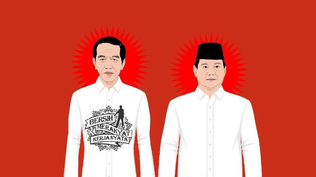 Beda Kemeja Jokowi dan Prabowo di Pilpres 2019