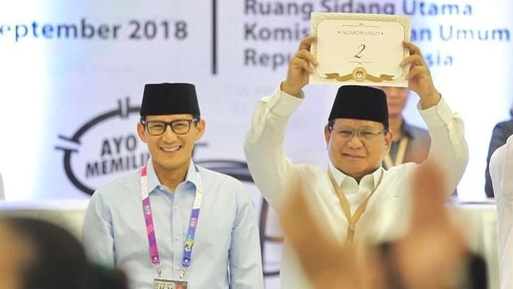 Sandi Klaim Bersaing Ketat dengan Jokowi-Amin di Survei Internal